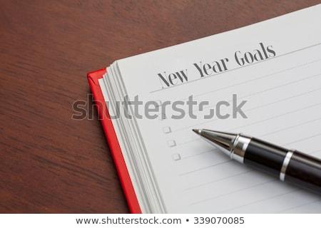 ноутбук Новый год страница первый Сток-фото © svetography