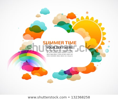 abstract rainbow summer vector background with copy space stock photo © lenapix