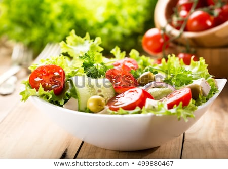 appetizing fresh salad stock photo © simply