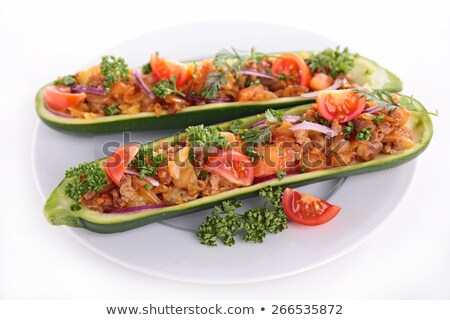 baked zucchini with beef and vegetables stock photo © m-studio