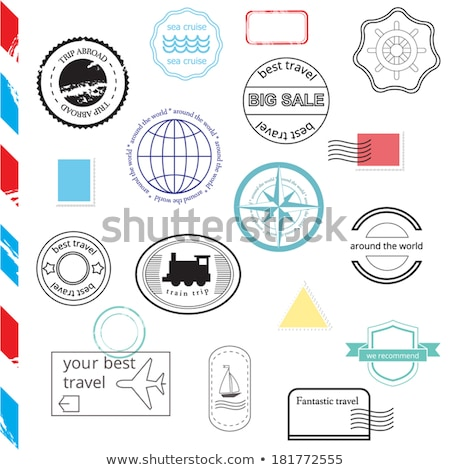 free rubber stamps set with ribbon stock photo © sarts