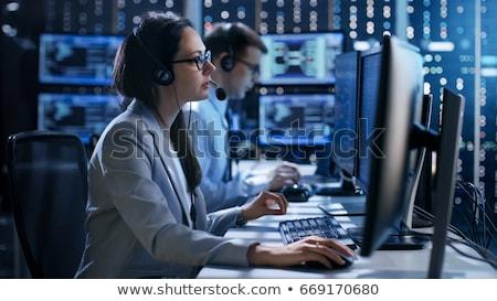 техническая поддержка команда человека женщину готовый Сток-фото © kali