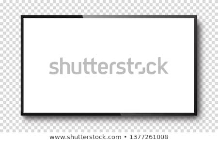 elegáns · vektor · tv · piros · retro · fehér - stock fotó © pakete