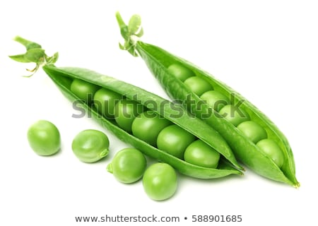 Verde ervilhas comida folha planta branco Foto stock © yelenayemchuk