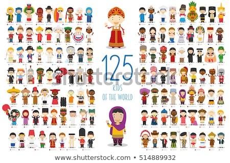 Crianças diferente países ilustração crianças criança Foto stock © bluering