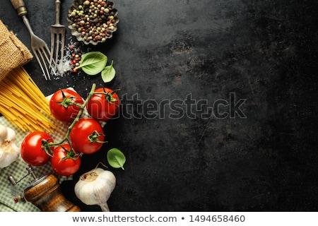Nourriture italienne ingrédient pâtes cuisson champignons ail Photo stock © M-studio