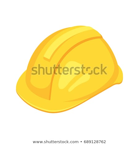 vector isometric yellow worker hat stock photo © curiosity
