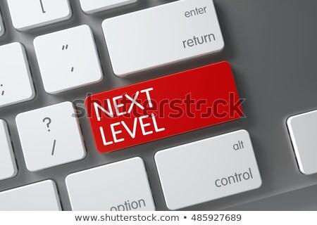 red new skills key on keyboard 3d rendering stock photo © tashatuvango