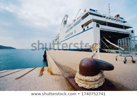 Balsa porta branco mar atrás cabo Foto stock © 5xinc
