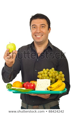 Mid Adult Man Holding Plate Of Healthy Food stock photo © monkey_business