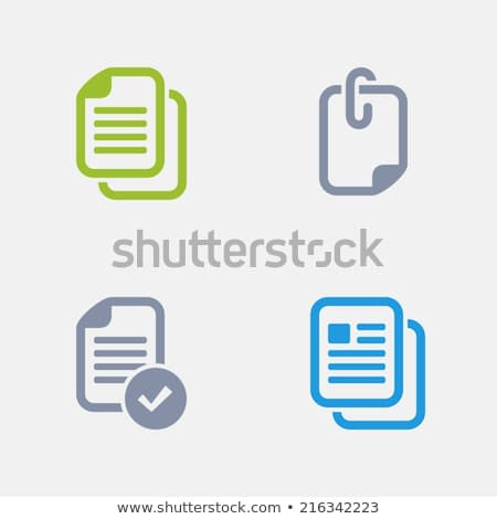 Fichiers granit professionnels icônes pixel Photo stock © micromaniac