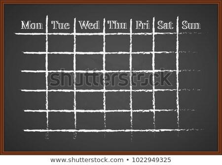 Photo stock: Temps · solutions · tableau · dessinés · à · la · main · texte