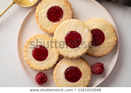 Cookies jam riempimento legno fragola zucchero Foto d'archivio © Digifoodstock