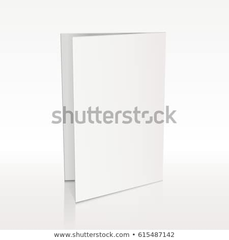 white folder paper greeting card vector template business mock up fold brochure illustration stock photo © pikepicture