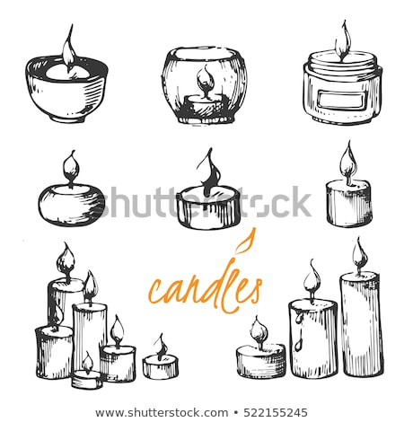 Vector Sketch Candle Stock photo © frescomovie