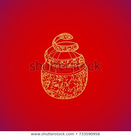 cleared pomelo fruit spiral rind Stock photo © TRIKONA