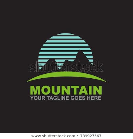 montanha · logotipo · design · de · logotipo · natureza · azul · viajar - foto stock © ggs
