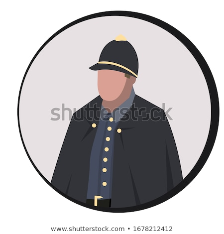 avatar portrait of a british police officer stock photo © studiostoks