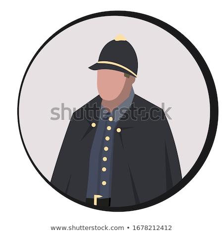 Avatar portrait britannique policier pop art rétro Photo stock © studiostoks