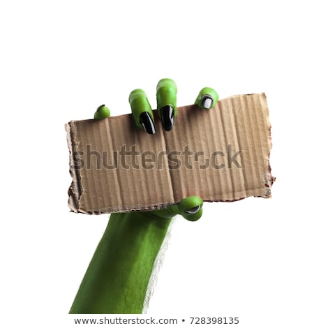 happy halloween sign monster zombie hand stock photo © krisdog