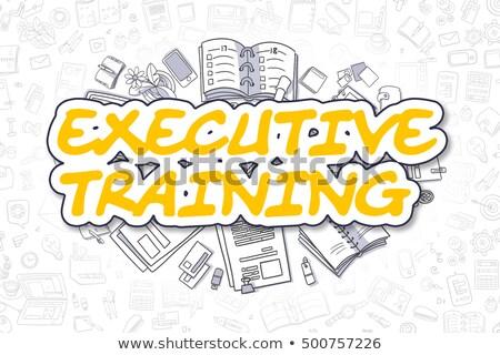 hatékony · stratégiák · firka · citromsárga · szöveg · üzlet - stock fotó © tashatuvango