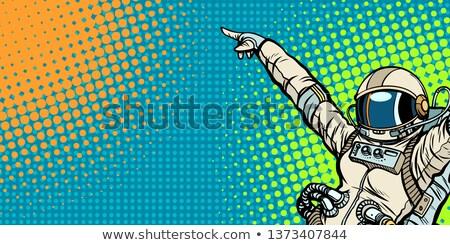 Vrouw kosmonaut vinger ruimte wetenschap Stockfoto © rogistok