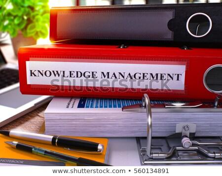 Knowledge Management on Folder. Blurred Image. Stock photo © tashatuvango