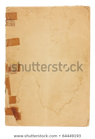 Very Old, Water-Stained Blank Paper stock photo © 3mc