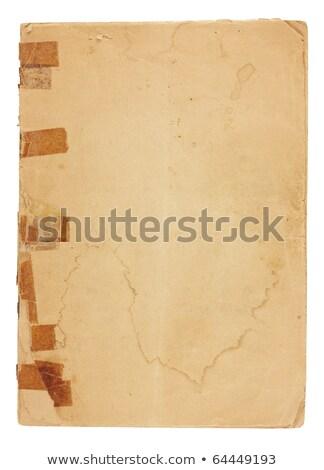 öreg üres papír öregedés elnyűtt papír víz Stock fotó © 3mc