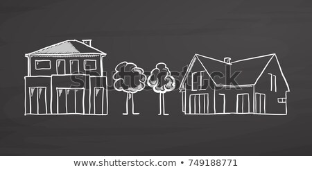 hand drawn growth concept on small chalkboard stock photo © tashatuvango
