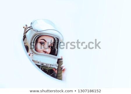 Sexy · красивая · девушка · астронавт · Поп-арт · ретро-стиле · научная · фантастика - Сток-фото © rogistok