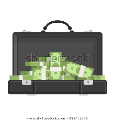 Briefcase Full of Money on Vector Illustration Stock photo © robuart