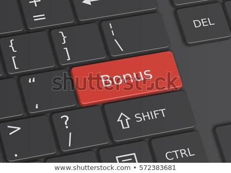 en · iyi · iş · ödül · bilgisayar · klavye · düğme · sertifika - stok fotoğraf © tashatuvango