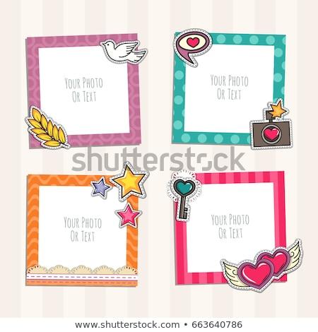 Kid Girls Frame Stock photo © lenm