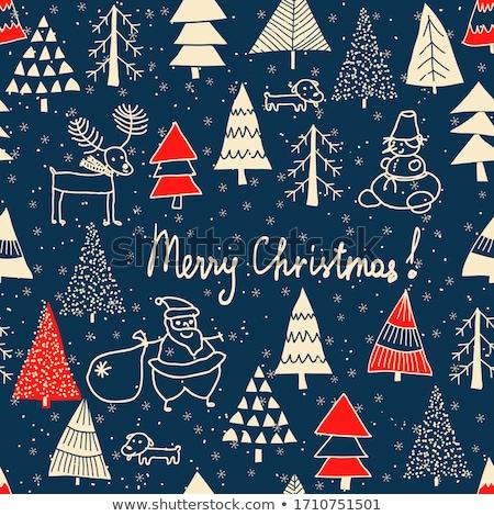 ベクトル クリスマス 実例 雪だるま 水彩画 着用 ストックフォト © Sonya_illustrations
