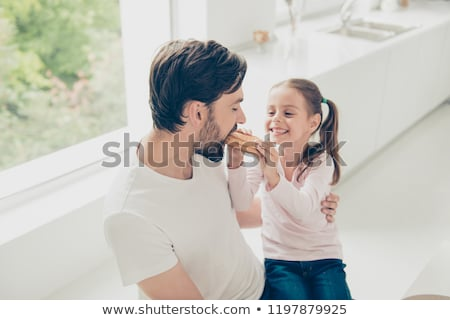 teen girls share sandwich stock photo © is2