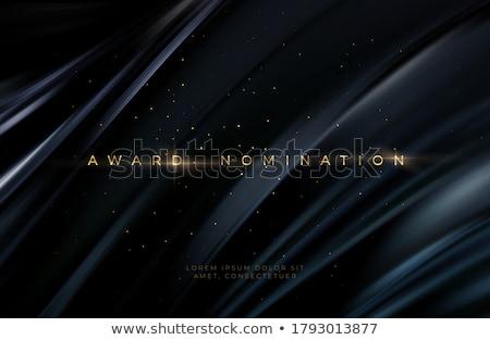 Mejor película película adjudicación dorado etiqueta Foto stock © SArts