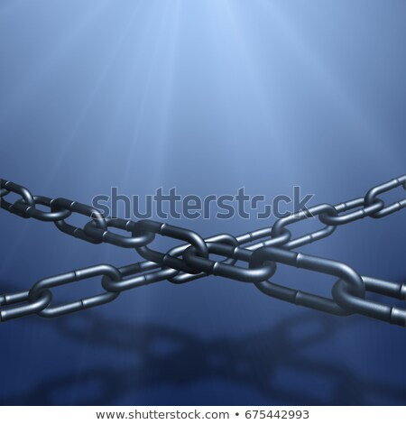 3d illustration of stretched two chains in spot light stock photo © anadmist