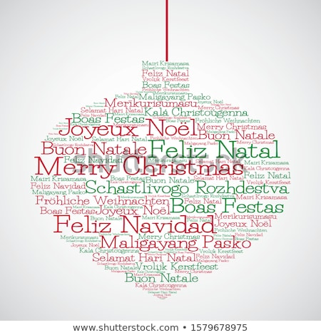 Word cloud Merry Christmas (in French) Stock photo © opicobello