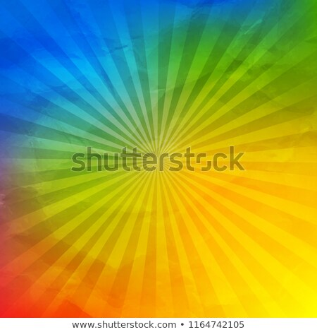 Colorful Wrinkled Wallpaper With Sunburst Stock photo © adamson