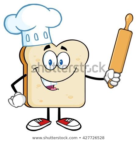 bakker · illustratie · gelukkig · presenteren · vers - stockfoto © hittoon
