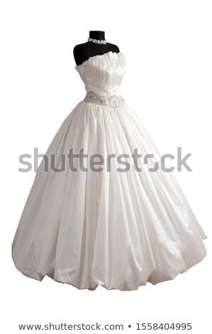elegante · bruid · traditioneel · trouwjurk · geïsoleerd · witte - stockfoto © LightFieldStudios