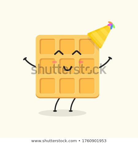 Square Waffle Cartoon Mascot Character Stock photo © hittoon