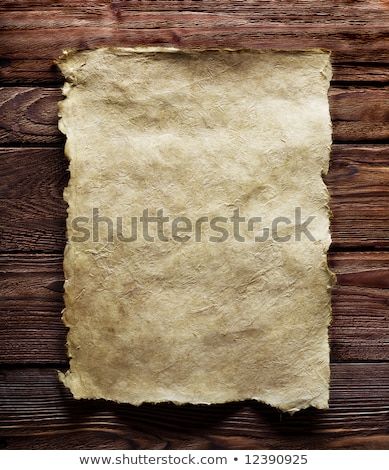 old paper manuscript on brown wood texture with natural patterns stock photo © rufous