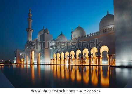 cami · Abu · Dabi · Bina · ibadet · beyaz · mermer - stok fotoğraf © dashapetrenko