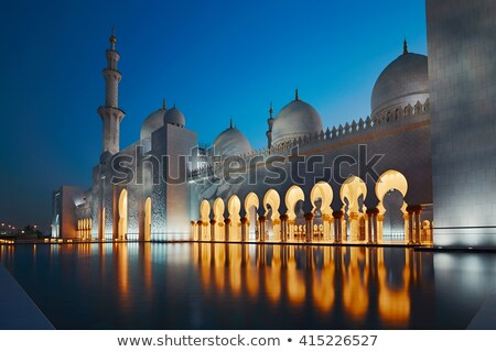 Сток-фото: Sheikh Zayed Mosque At Night United Arab Emirates