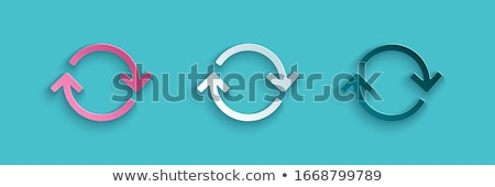 Recycle symbol isolated on white background. Vector sign. Blue icon. Stock photo © ESSL