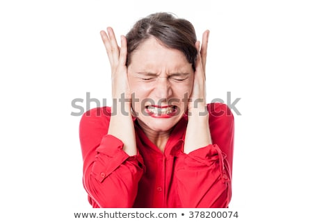 Woman suffering from noise Stock photo © CsDeli