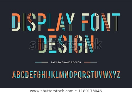 Stencil line font. Colorful condensed alphabet and font Stock photo © FoxysGraphic