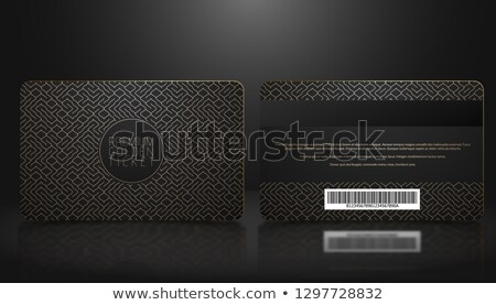 vector template of membership or loyalty black vip card with luxury geometric pattern stock photo © iaroslava